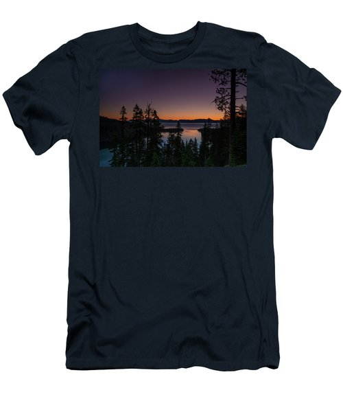 Colorful Sunrise In Emerald Bay Men's T-Shirt (Athletic Fit)