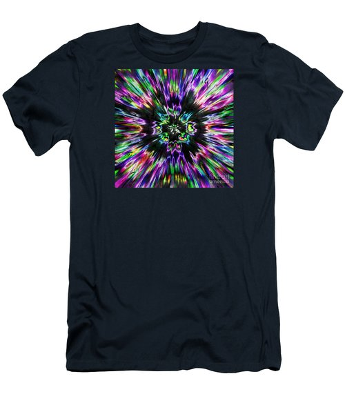 Colorful Tie Dye Abstract Men's T-Shirt (Athletic Fit)