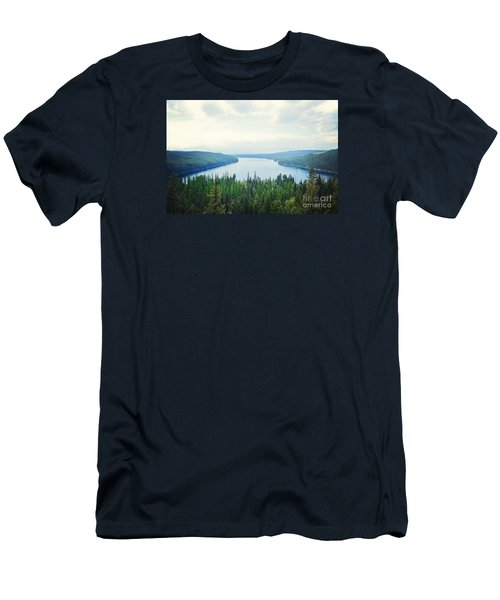 Men's T-Shirt (Slim Fit) featuring the photograph Companionship- Holland Lake by Janie Johnson