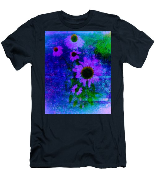 Coneflowers Abstract Men's T-Shirt (Athletic Fit)