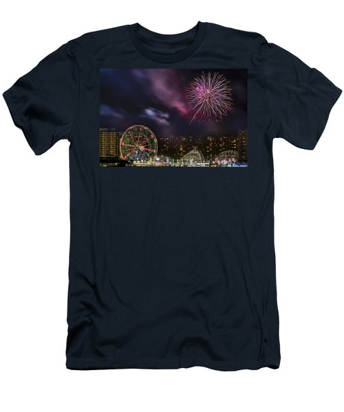Coney Island Fireworks Men's T-Shirt (Athletic Fit)