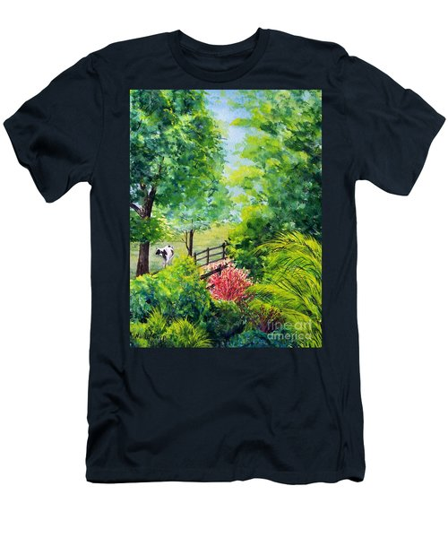 Men's T-Shirt (Athletic Fit) featuring the painting Contentment by Nancy Cupp