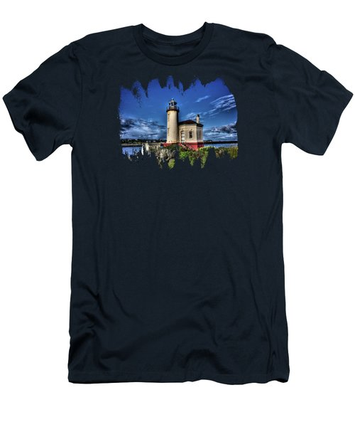 Men's T-Shirt (Slim Fit) featuring the photograph Coquille River Lighthouse by Thom Zehrfeld