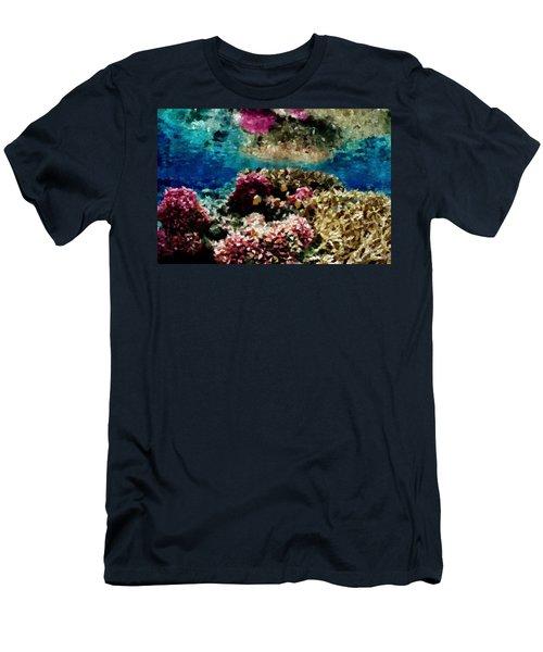 Coral Reef Men's T-Shirt (Slim Fit) by Carol Crisafi