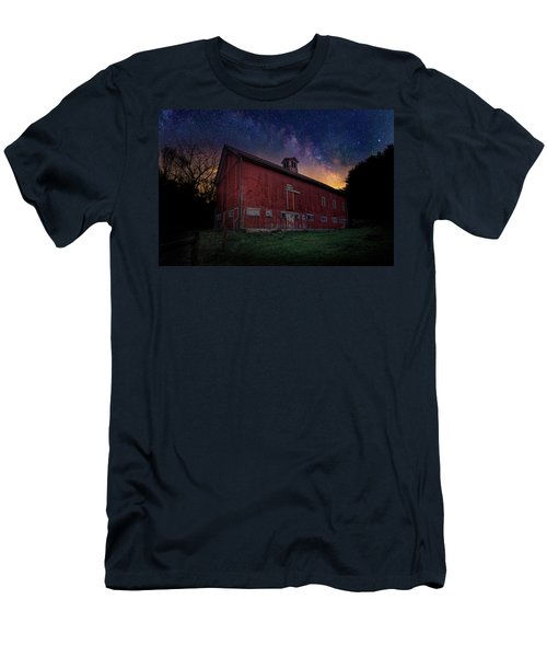 Men's T-Shirt (Slim Fit) featuring the photograph Cosmic Barn by Bill Wakeley