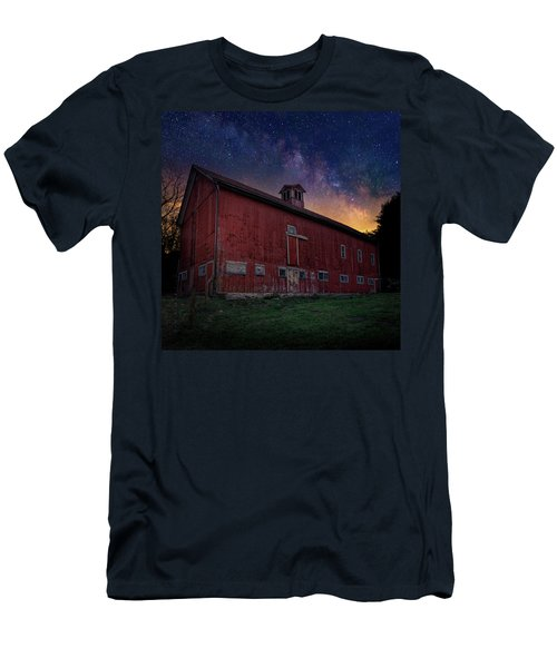 Men's T-Shirt (Slim Fit) featuring the photograph Cosmic Barn Square by Bill Wakeley