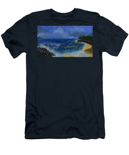 Costa Rica Beach Men's T-Shirt (Athletic Fit)