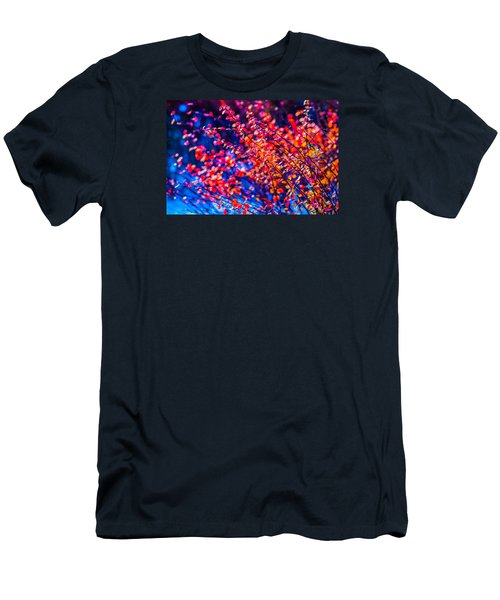 Men's T-Shirt (Slim Fit) featuring the photograph Cotoneaster In Winter by Alexander Senin