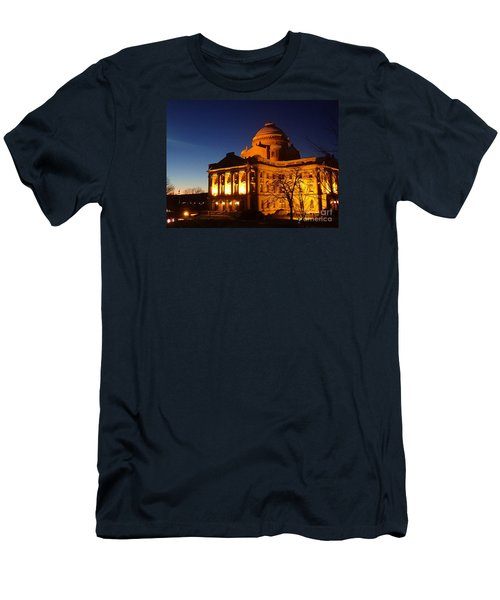 Men's T-Shirt (Slim Fit) featuring the photograph Courthouse At Night by Christina Verdgeline