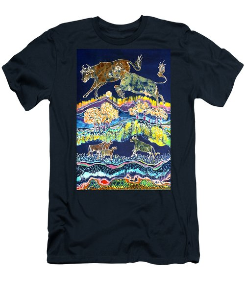 Cows Jumping Over The Moon Men's T-Shirt (Athletic Fit)