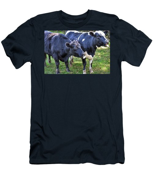 Cows Sticking Out Tongues Men's T-Shirt (Athletic Fit)