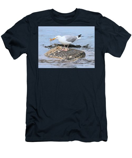 Crab Legs Men's T-Shirt (Slim Fit) by Debbie Stahre