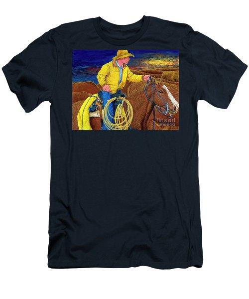 Cracker Cowboy Sunrise Men's T-Shirt (Athletic Fit)