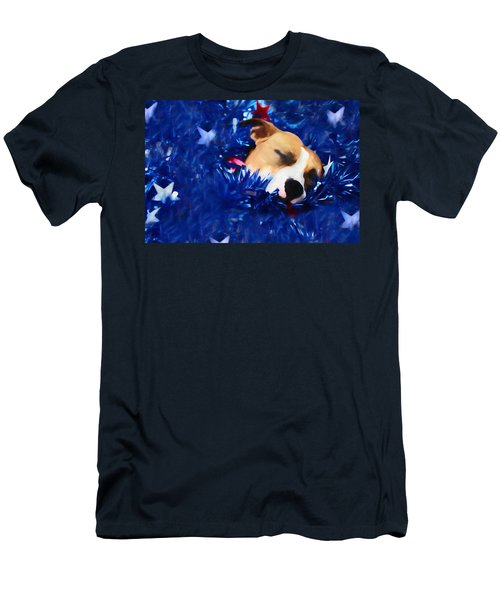 Men's T-Shirt (Slim Fit) featuring the photograph Cradled By A Blanket Of Stars And Stripes by Shelley Neff