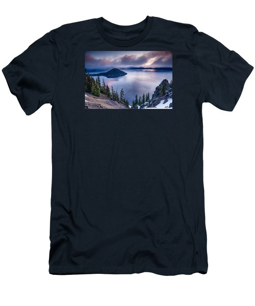 Crater Lake Spring Morning Colors Men's T-Shirt (Slim Fit) by Greg Nyquist