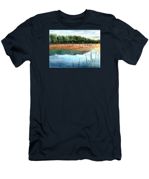 Crawford Lake Morning Men's T-Shirt (Slim Fit) by LeAnne Sowa
