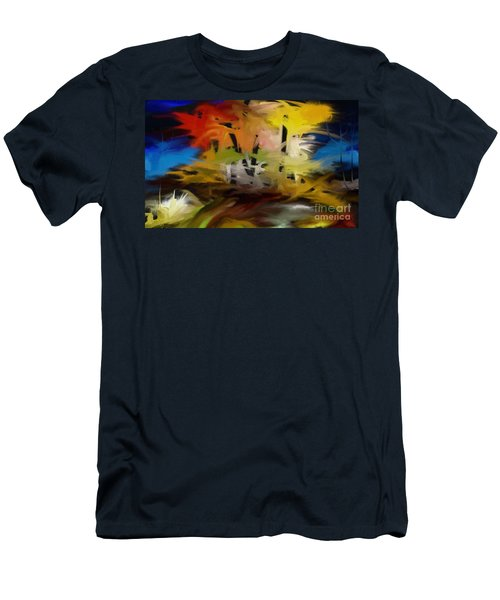 Men's T-Shirt (Slim Fit) featuring the painting Crazy Nature by Rushan Ruzaick