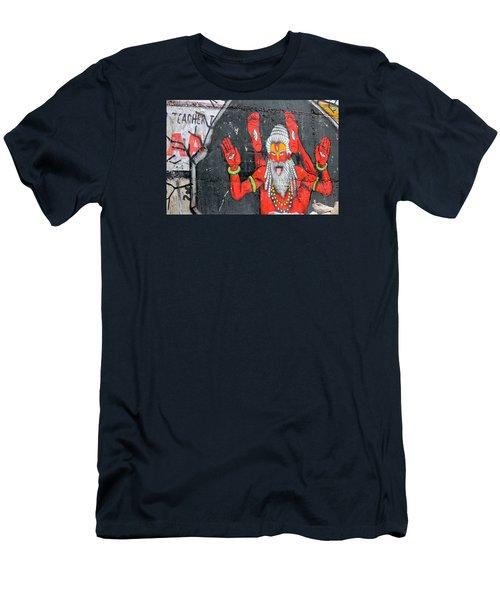 Crazy Yogi, Rishikesh Men's T-Shirt (Athletic Fit)
