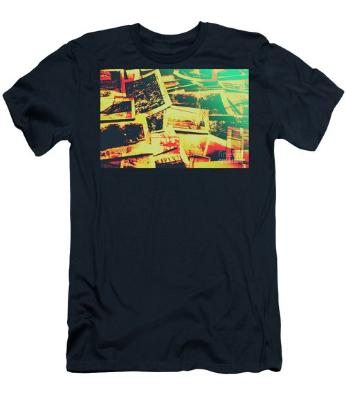 Creative Retro Film Photography Background Men's T-Shirt (Athletic Fit)