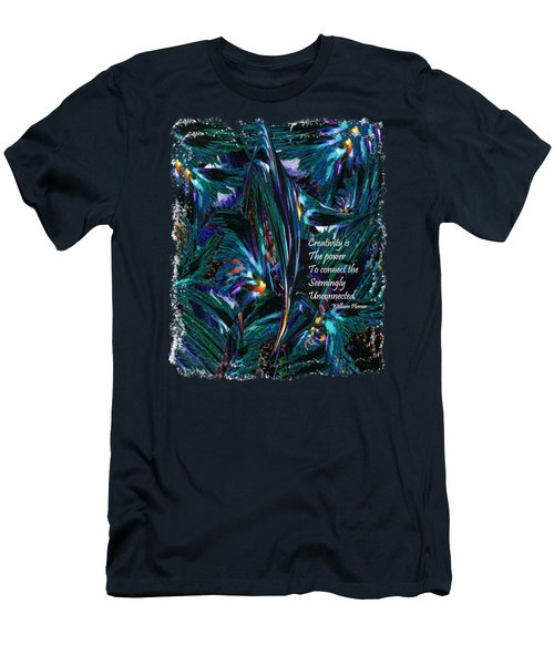 Creativity Is Quote William Plomer  Men's T-Shirt (Athletic Fit)