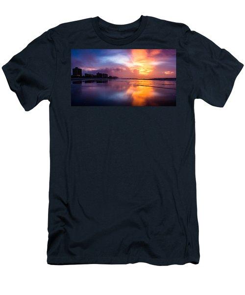 Crescent Beach Sunrise Men's T-Shirt (Athletic Fit)