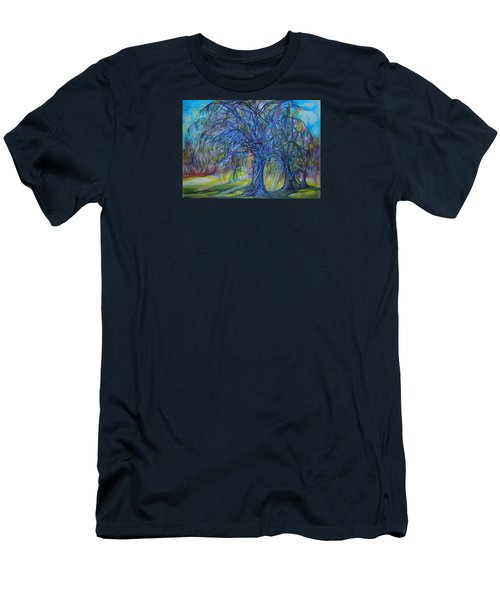 Men's T-Shirt (Slim Fit) featuring the drawing Crystal Light by Anna  Duyunova