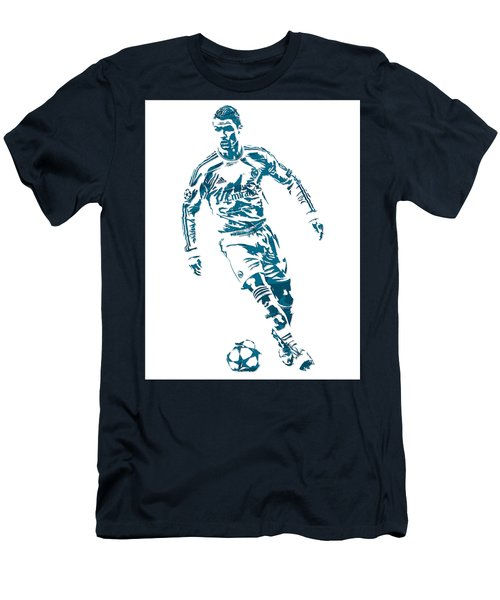 Cristiano Ronaldo Real Madrid Pixel Art 1 Men's T-Shirt (Athletic Fit)