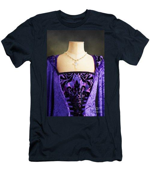 Cross Necklace Men's T-Shirt (Athletic Fit)