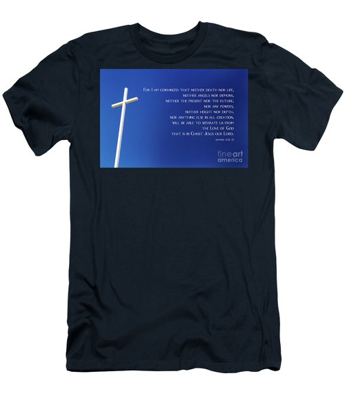 Cross With Blue Sky Men's T-Shirt (Athletic Fit)