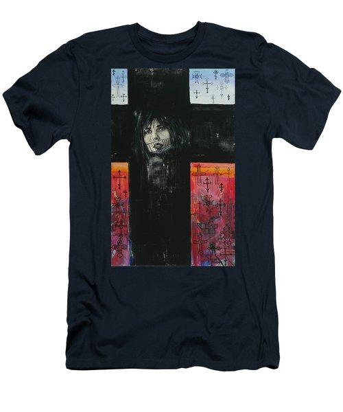 Crossroad Men's T-Shirt (Slim Fit) by Yelena Tylkina