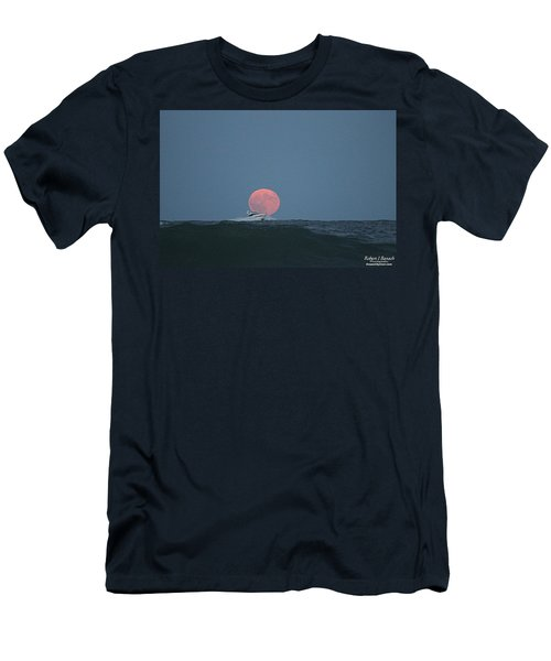 Cruising On A Wave During Harvest Moon Men's T-Shirt (Athletic Fit)