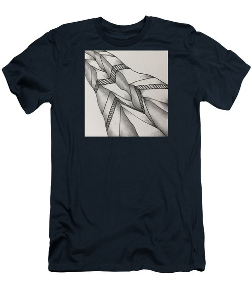 Men's T-Shirt (Athletic Fit) featuring the drawing Crumpled by Jan Steinle