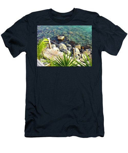 Crystal Clear Men's T-Shirt (Slim Fit) by Beth Saffer