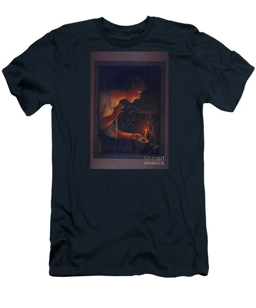 Cycles Fongers Vintage Bicycle Poster Men's T-Shirt (Slim Fit) by R Muirhead Art