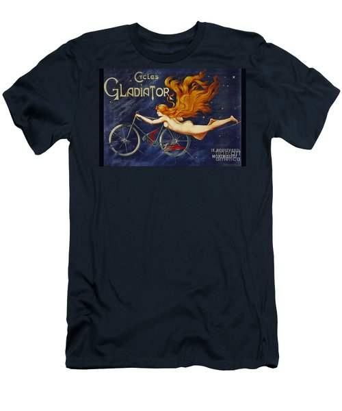 Cycles Gladiator  Vintage Cycling Poster Men's T-Shirt (Athletic Fit)