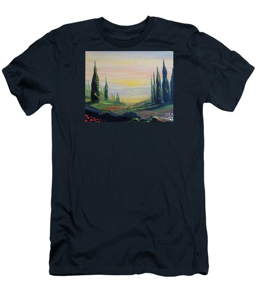 Cypress Dawn Landscape Men's T-Shirt (Athletic Fit)