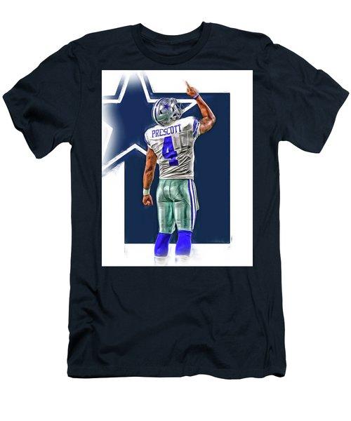 Dak Prescott Dallas Cowboys Oil Art Series 2 Men's T-Shirt (Athletic Fit)
