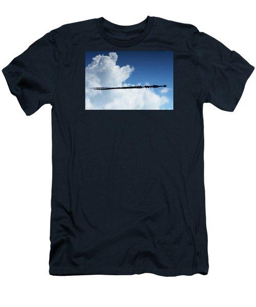 Men's T-Shirt (Slim Fit) featuring the photograph Dangerous Reflection Saltwater Crocodile 2 by Gary Crockett