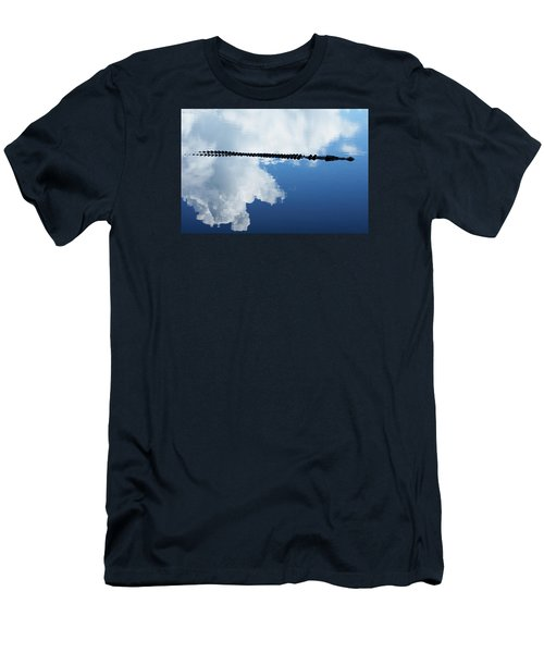 Men's T-Shirt (Slim Fit) featuring the photograph Dangerous Reflection Saltwater Crocodile by Gary Crockett