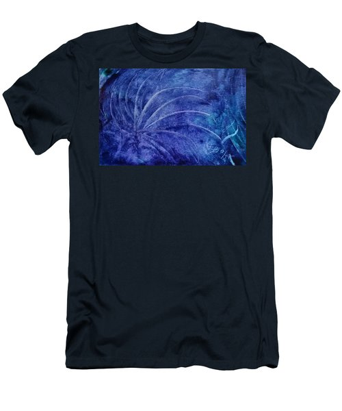 Dark Blue Abstract Men's T-Shirt (Athletic Fit)
