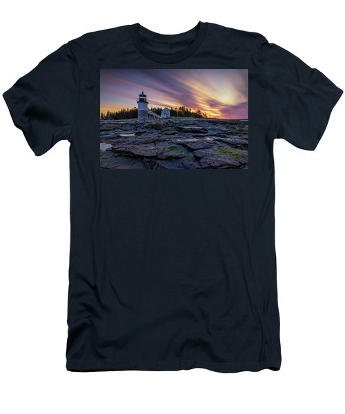 Dawn Breaking At Marshall Point Lighthouse Men's T-Shirt (Athletic Fit)