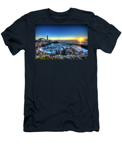 Dawn At Portland Head Lighthouse Men's T-Shirt (Athletic Fit)