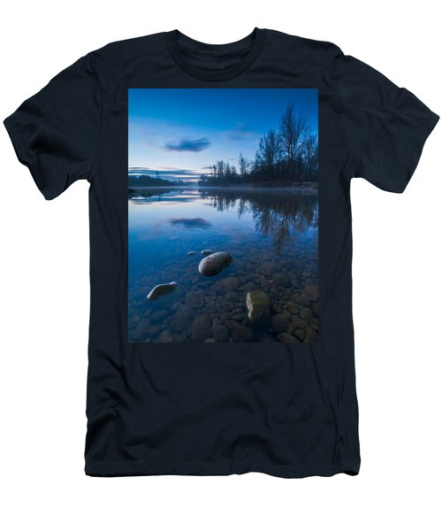 Dawn At River Men's T-Shirt (Slim Fit) by Davorin Mance