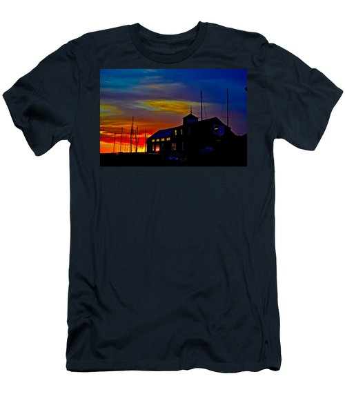 Dawn At The Boatbuilder  Men's T-Shirt (Athletic Fit)