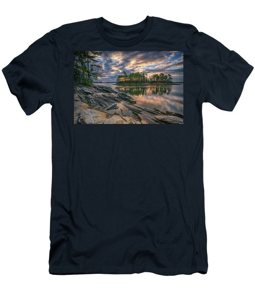 Men's T-Shirt (Slim Fit) featuring the photograph Dawn At Wolfe's Neck Woods by Rick Berk