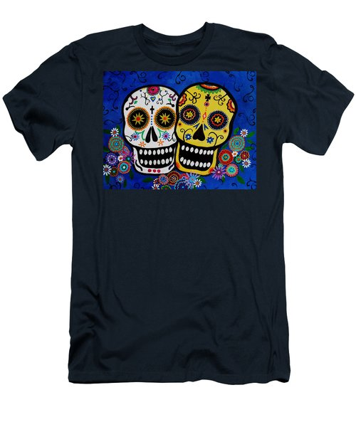 Day Of The Dead Sugar Men's T-Shirt (Slim Fit) by Pristine Cartera Turkus