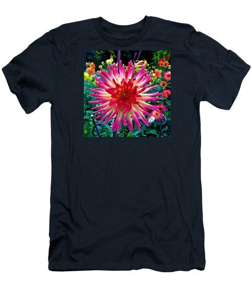 Dazzling Dahlia  Men's T-Shirt (Athletic Fit)