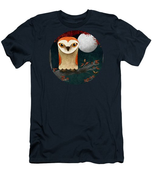 Deep In The Night Owl Eyes Bright Men's T-Shirt (Athletic Fit)