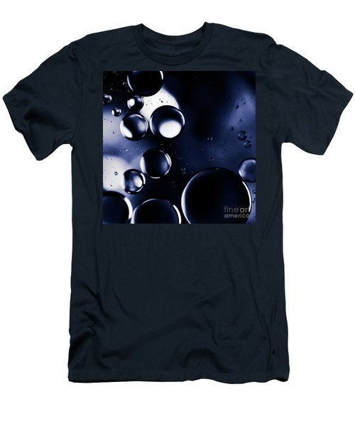 deep purple blue tones Macro Water Droplets Men's T-Shirt (Slim Fit) by Sharon Mau
