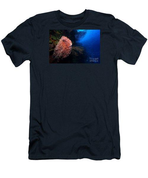 Deep Reef Men's T-Shirt (Slim Fit) by Aaron Whittemore